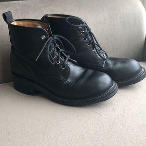 Frye vintage black lather lace up boots 9.5E